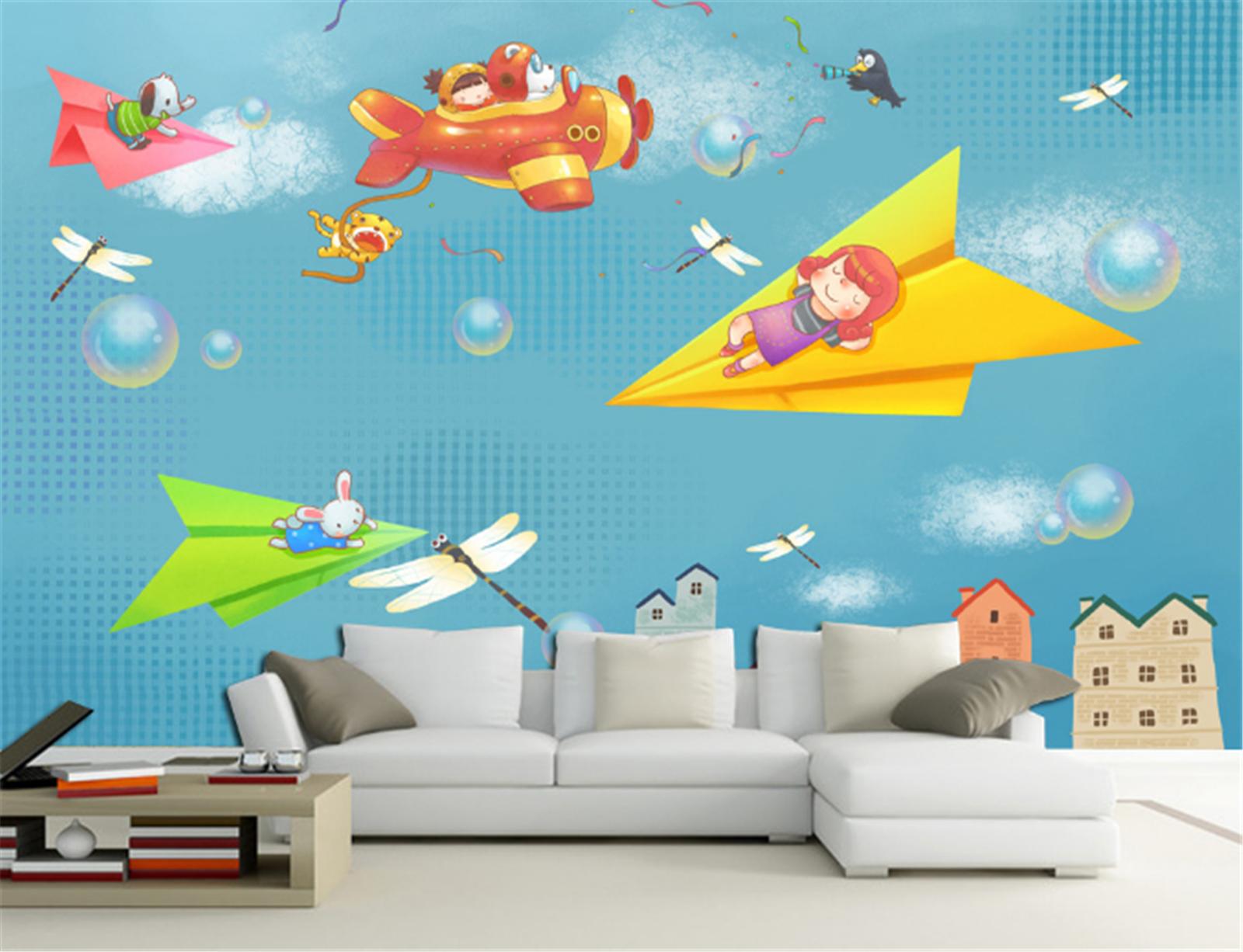 3D Märchenflugzeug Kind6 Tapete Tapeten Mauer Foto Familie Tapete Wandgemälde DE