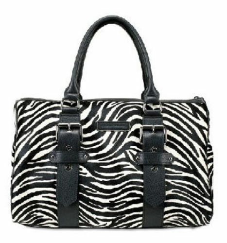 New~Kate Moss For Longchamp Zebra Pony Polonchon Gloste Leather Tote Bag~ by Longchamp