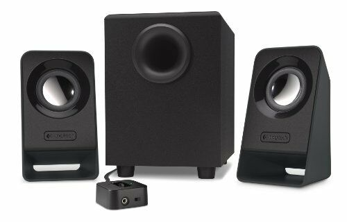 Multimedia Stereo Speakers with Subwoofer and Adjustable Bass Control Knob 14W