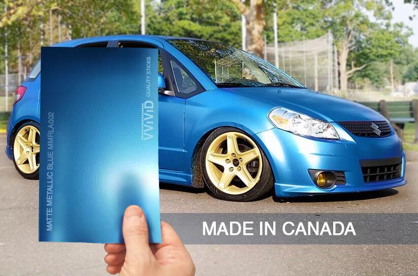 Vvivid Xpo Matte Metallic blue 5ft x 20ft car wrap decal