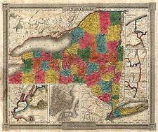 NEW YORK city state 381 maps PANORAMIC old genealogy HISTORY atlas DVD