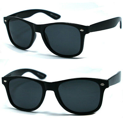 Retro Classic Square Frame Polorized Sunglasses - Black WF08