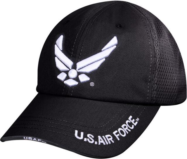 ff9340994e5 Black US Air Force Ball Cap Adjustable Tactical USAF Military Hat Summer  Mesh
