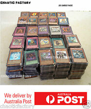 YuGiOh 25x BULK Cards with Rares & Foils - Genuine Konami cards, Best Value!