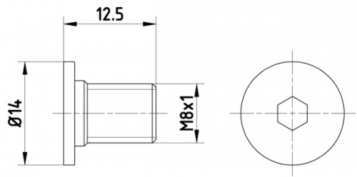 Textar Fixierschraube für Bremsscheiben für MercedesVPE=2 Stück TPM0002