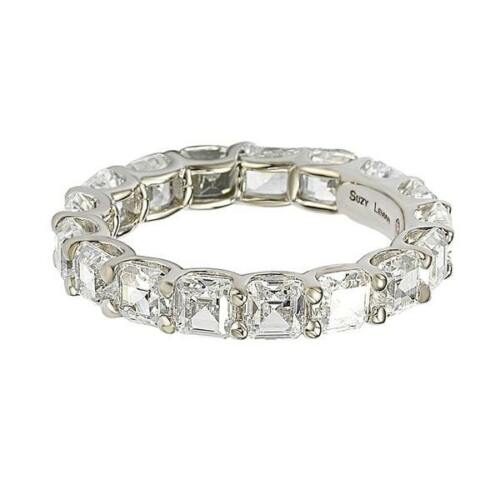 Suzy Levian Sterling Silver Cubic Zirconia White Modern Eternity Band