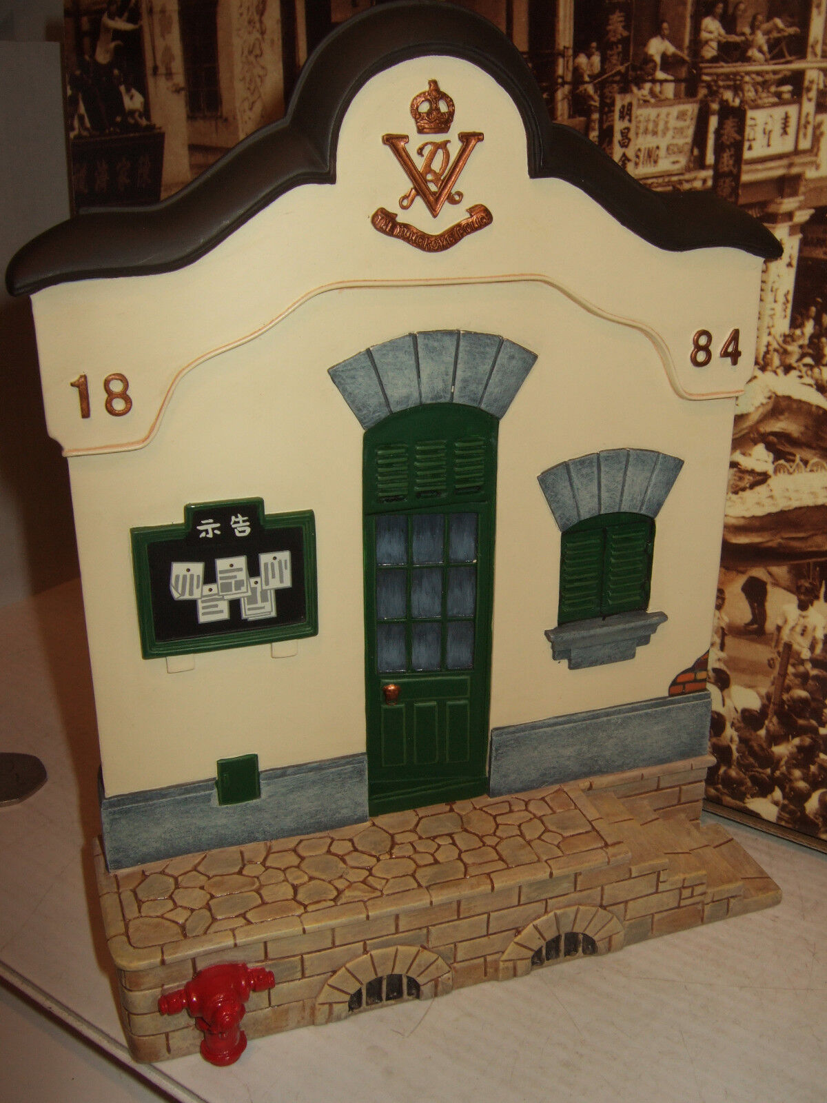 King and Country HK140 Streets of Old Hong Kong, Police Station Front 1 30 Scale