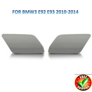 1Pair-Headlight-Washer-Cover-Cap-For-BMW-E92-E93-LCI-2010-2013-Left-Right