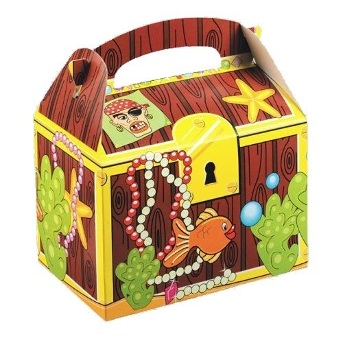Childrens Treasure Chest Pirate Food Box ~ Picnic Birthday Party Plate Boxes