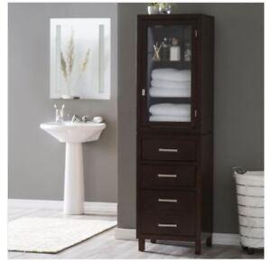 Groovy Details About Tall Linen Cabinet Bathroom Glass Shelf Drawer Bath Towel Storage Display Case Download Free Architecture Designs Scobabritishbridgeorg