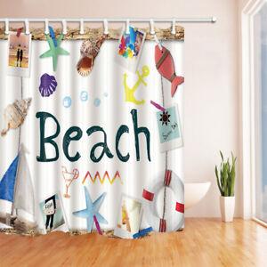 72 72inch Beach Theme Bathroom Decor