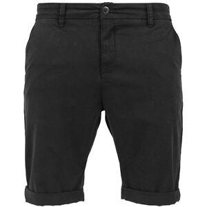 Urban-Classics-Stretch-BOCAMANGA-Pantalones-Cortos-Chino-para-hombre-BLACK
