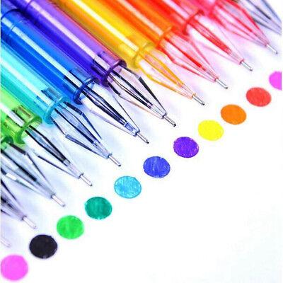 Hot 12pcs Diamond Gel Pens School Supplies Draw Colored Pens Candy Color