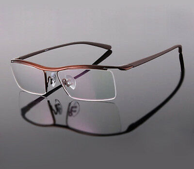 Pure Titanium Mens Nickle Free Half Rim TR90 Eyeglasses Frames Optical Rx-able