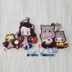 Anime-Demon-Slayer-Kimetsu-no-Yaiba-Rubber-Keychain-Key-Ring-straps-cosplay