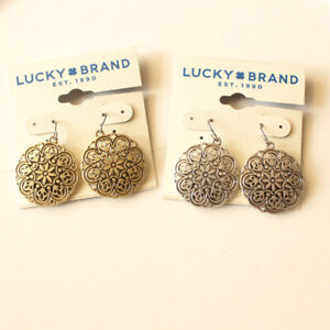 New-Lucky-Brand-Floral-Drop-Earrings-Gift-Vintage-Women-Party-Jewelry-2Colors-FS