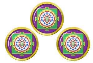 Sri-Yantra-Hindou-Marqueurs-de-Balles-de-Golf