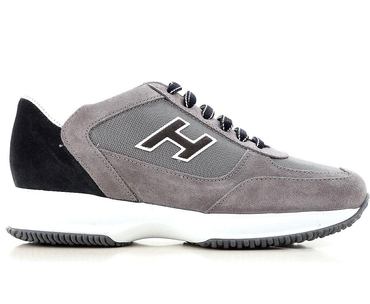 Hogan scarpe uomo new interactive H flock etichetta HXM00N0Q102I9L413K grigio