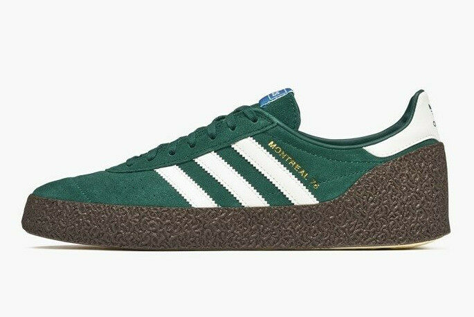 Adidas Originals Montreal'76 ante verde & Off blanco Stripes () BNIBWT