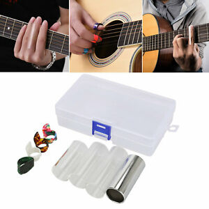 9-Pcs-Guitar-Finger-Picks-Slides-Set-Music-Improve-Guitar-Slides-Thumb-Durable