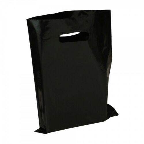 "Union Jack, Zebra, Plain Black, Gold Stripe Patterned Carrier Bags 15x18x3/"""