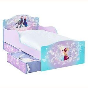 Disney Frozen Mdf Tout Petit Lit Avec Tiroir Rangement Neuf Ebay
