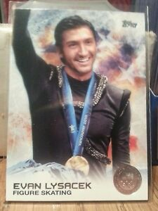 2014-Topps-Olympics-silver-parallel-card-57-Evan-Lysacek-figure-skating