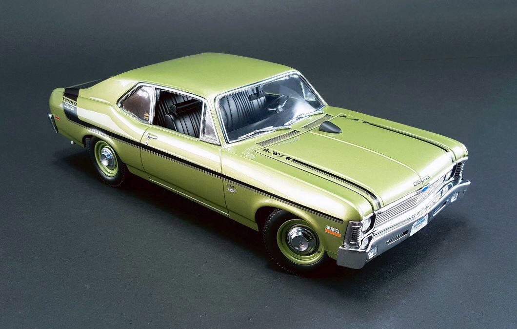 mejor calidad GMP 1970 Chevrolet Nova Yenko Deuce Citrus verde 1 18 18 18  lo último