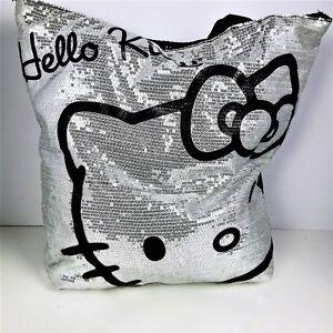 Image is loading Hello-Kitty-Womens-Tote-Shoulder-Bag-Handbag-Sequins- 73af4396da