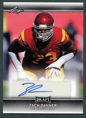 new style 919d0 ab276 Zach Banner #A-ZB1 signed autograph auto 2017 Leaf Draft Rookie Football  Card | eBay