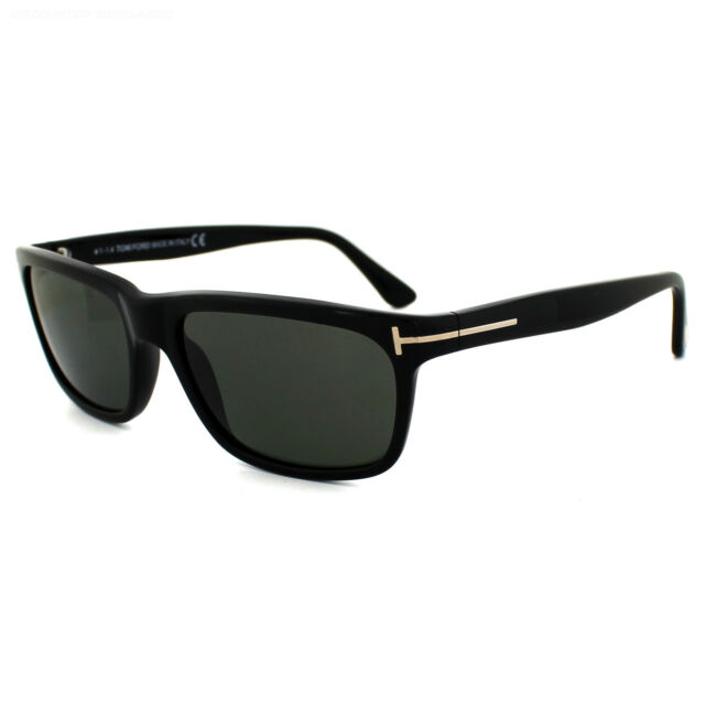 Tom Ford Occhiali da Sole 0337 Hugh 01N Nero Brillante Verde Polarizzate