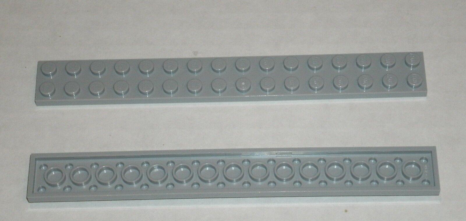 LEGO New Lot of 8 Light Bluish Gray 1x1 Plates with Horiztonal Clip