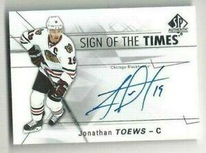 2016-17-SOTT-hockey-card-Jonathan-Toews-autographed-Chicago-Blackhawks
