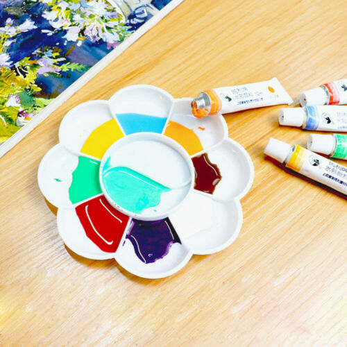 =MINI Paint Tray Plastic Small Color Palettes Artist Watercolor Painting Supply//