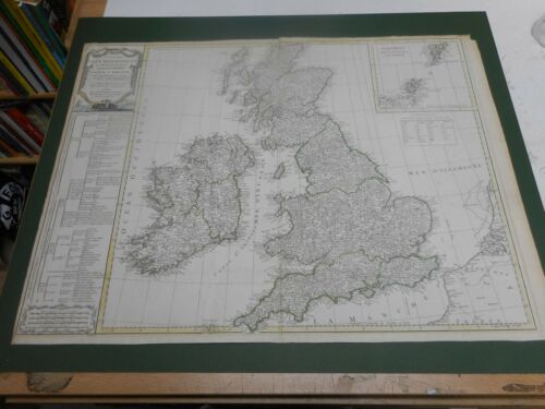 100% ORIGINAL LARGE ENGLAND AND WALES MAP BY S DELAMARCHE C1780 VGC