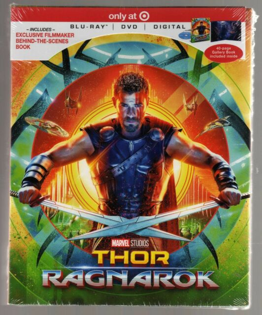 THOR: RAGNAROK BLU RAY / DVD TARGET VERSION BRAND NEW CHRIS HEMSWORTH