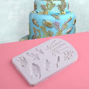 3D-Poisson-Corail-Silicone-Fondant-Moule-mer-Gateau-Decoration-Moule
