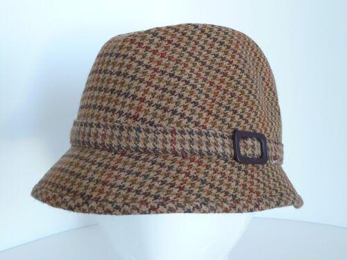 Aristos London Brown Wool Blend Houndstooth Size 6