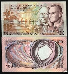 Luxembourg 100 Francs 8-3-1981 Pick 14A UNC Uncirculated Banknote