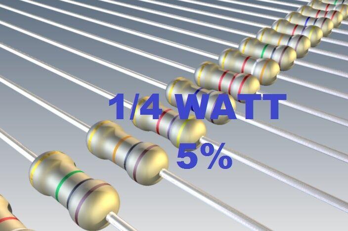 100 PEZZI RESISTENZE STRATO CARBONE 1W 1 WATT 5/% 150 ohm