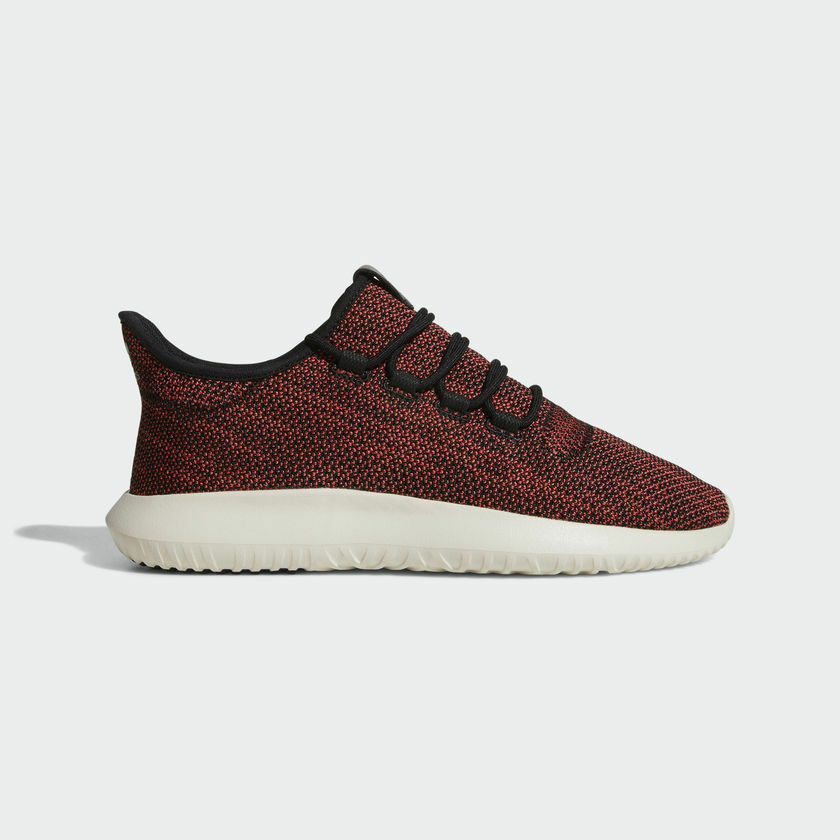 NEW MEN'S ADIDAS ORIGINALS TUBULAR SHADOW KNIT SHOES [AC8791]  TRACE SCARLET/BLK