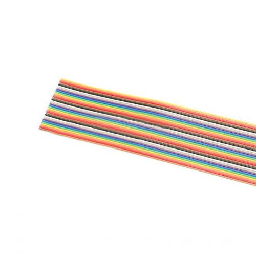 Pitch 1.27mm 10//14//16//20P-50P Dupont Wire Flat Flexible Rainbow Ribbon PCB Cable