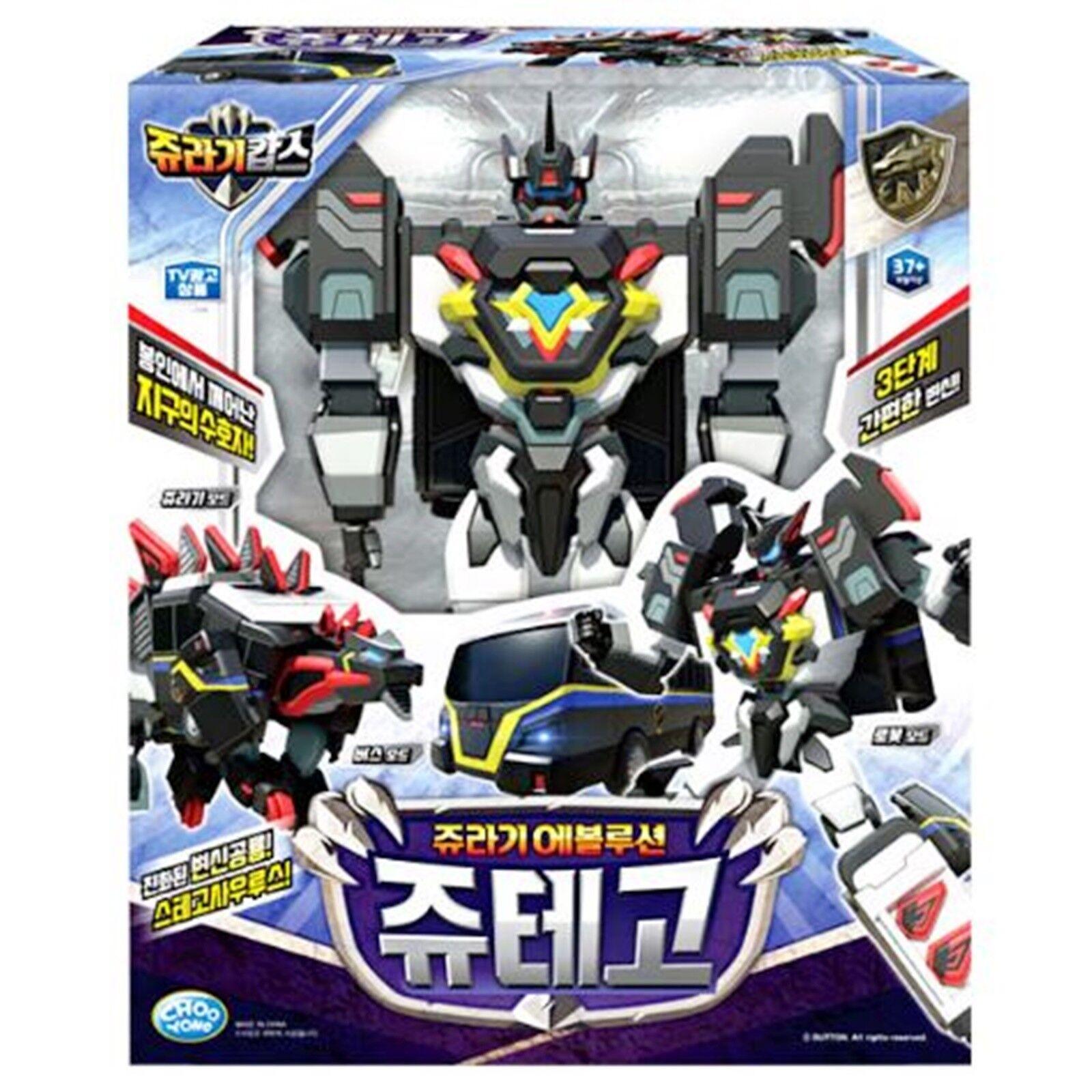 New Jurassic Cops Evolution JUTEGO Dinosauri buss Transformer Robot leksak Korea TV