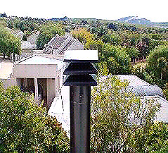 Block out wind and rain on chimney