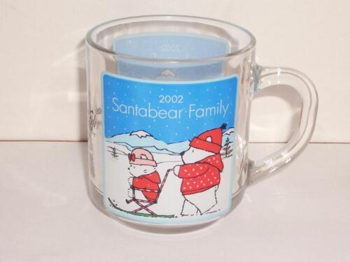 2002 Marshall Field/'s  SANTA BEAR  Glass Mug Unused!