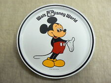"Vintage Walt Disney World Mickey Mouse 11"" Metal Serving Tray, Price Tag on Back"