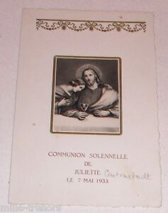 Ancien-Menu-de-Communion-de-Juliette-CARTENSTADT-du-7-mai-1933-Relief-et-dorure