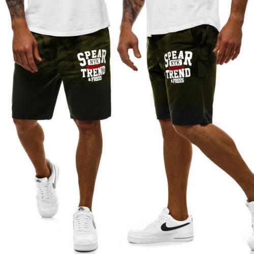 Pantaloni Corto Pantaloni Sportivi Jogging Fit Tinta Pantaloncini Sport Uomo OZONEE js//kk300110