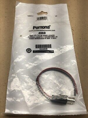 Pomona 4969 BNC Female Cable to 20 AWG Lead Pack of 5