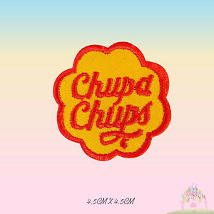 Chupa Chups Embroidered Iron On Patch Sew On Badge Applique